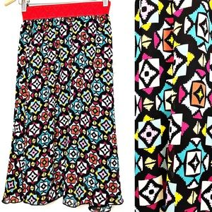 NWT LuLaRoe Lola Colorful Midi Skirt XXS
